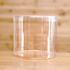 Пластиковый тубус со склеенным дном