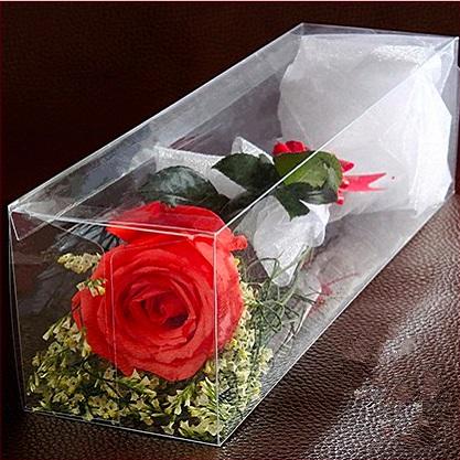 Роза в пластиковой коробке