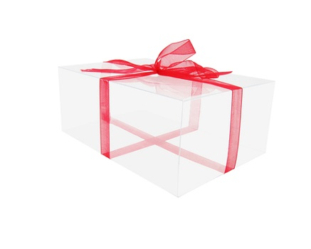 Коробка пластиковая подарочная