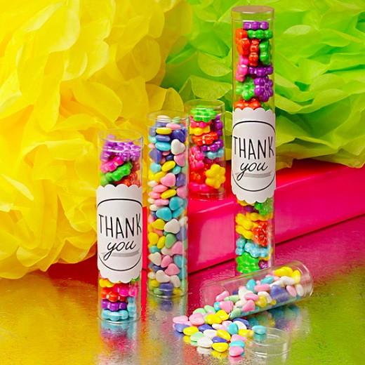 Тубус пластиковый с конфетами