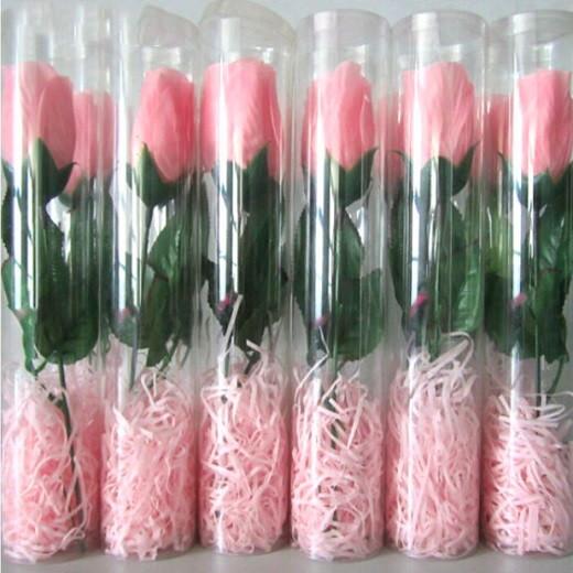 Пластиковый тубус для цветов
